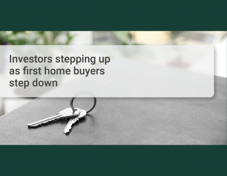 Investors stepping up as first home buyers step down
